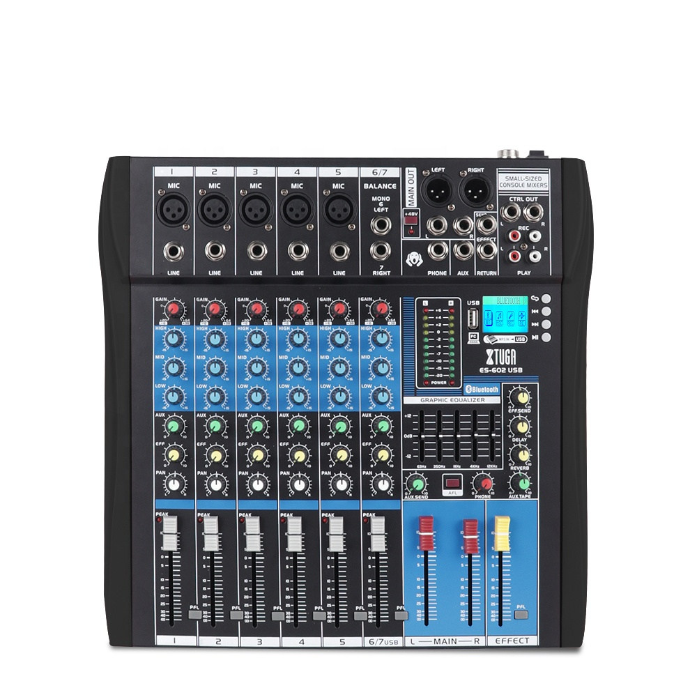 Top Quality Live Optical Audio Kit Mixer Live Sound With USB MP3 Blue.tooth