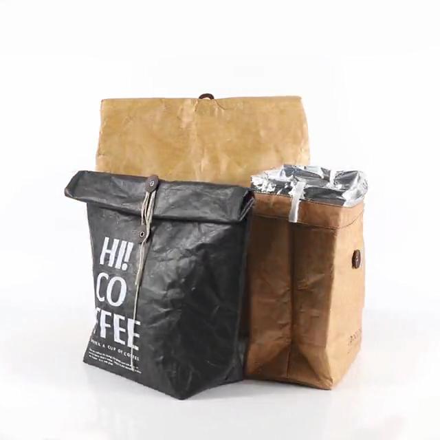 À prova d' água Tyvek eco friendly Papel Kraft entrega de alimentos almoço portátil saco térmico