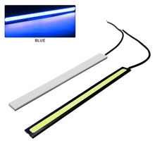 1 шт. Автомобильный светодиодный DRL дневный ходовой светильник для вождения противотуманных фар COB чипы светильник s 17 см Авто Водонепроница...(Китай)