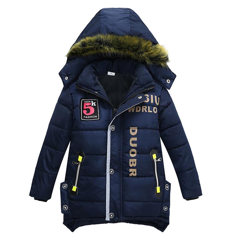 Nouveaux Enfants Vêtements Garçon À Capuche Fantaisie Rembourré Épais Enfant Chaud À La Mode Enfants Garçons Veste D'hiver