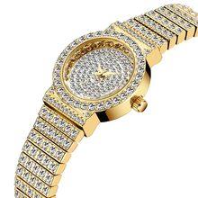 MISSFOX маленькие женские часы s, уникальные товары, роскошные брендовые часы с бриллиантами, женские водонепроницаемые аналоговые 18K золотые к...(Китай)