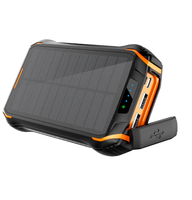 High Quality Wireless Foldable Mobile Waterproof 20000 Mah Powerbank Solar Charger 10000mAh For Cell Phone