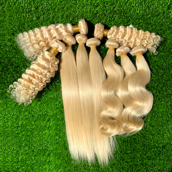 Ali express Wholesale Cuticle Aligned Brazilian 613 Blonde Human Hair, Raw Hair Vendors , Curly Extension Bundles For Women
