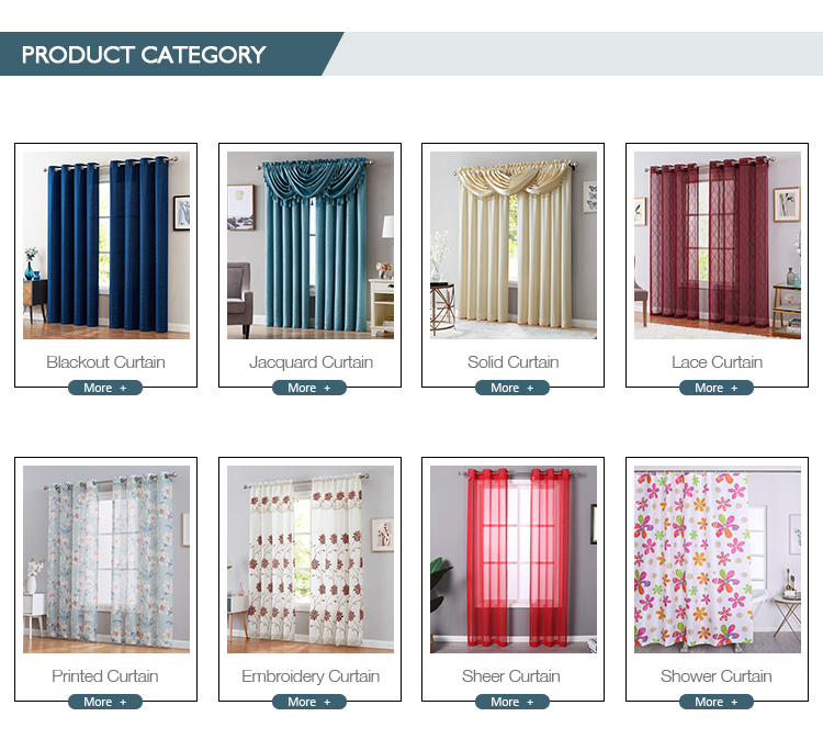 Hot selling Luxury  Embroidered Ready made  Sheer Curtains with attached valance for bedroom windows