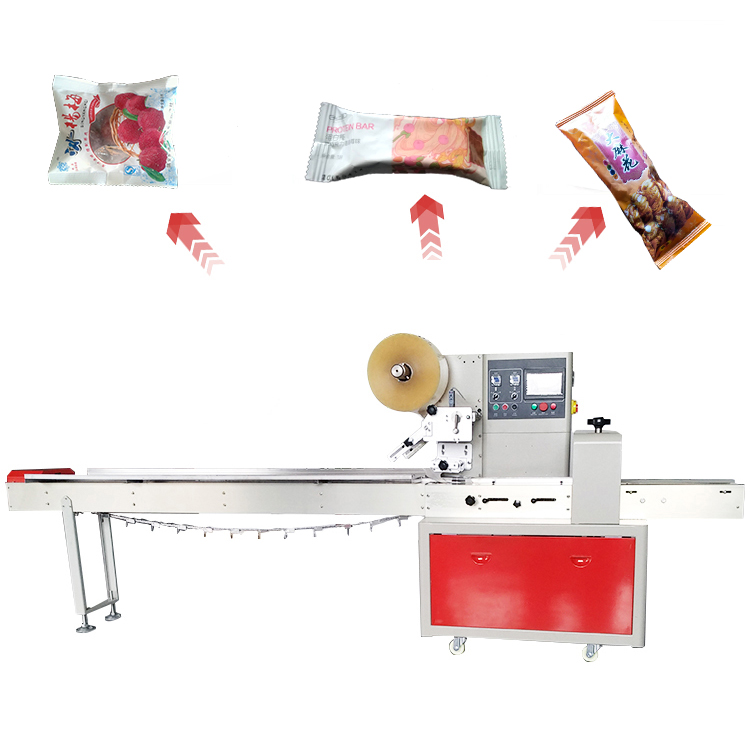 Multi-funktion horizontale 4 seite dichtung eis snack verpackung maschine