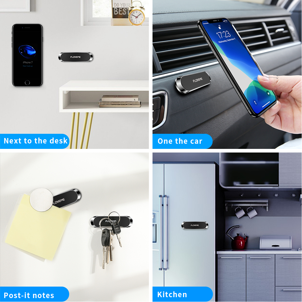 Free Shipping 1 Sample OK FLOVEME Mini Car Mount Dashboard Magnetic Car Mobile Phone Holder for iPhone Car Phone Stand