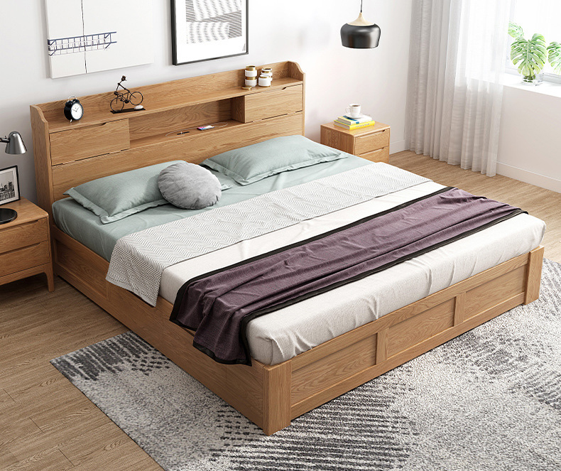 product-BoomDear Wood-room bed furniture multifunction high end low pricebig full size new design wo-2