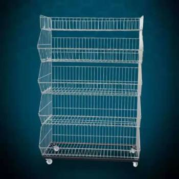 Supermarket retail metal wire hanging basket potato chip snack display rack