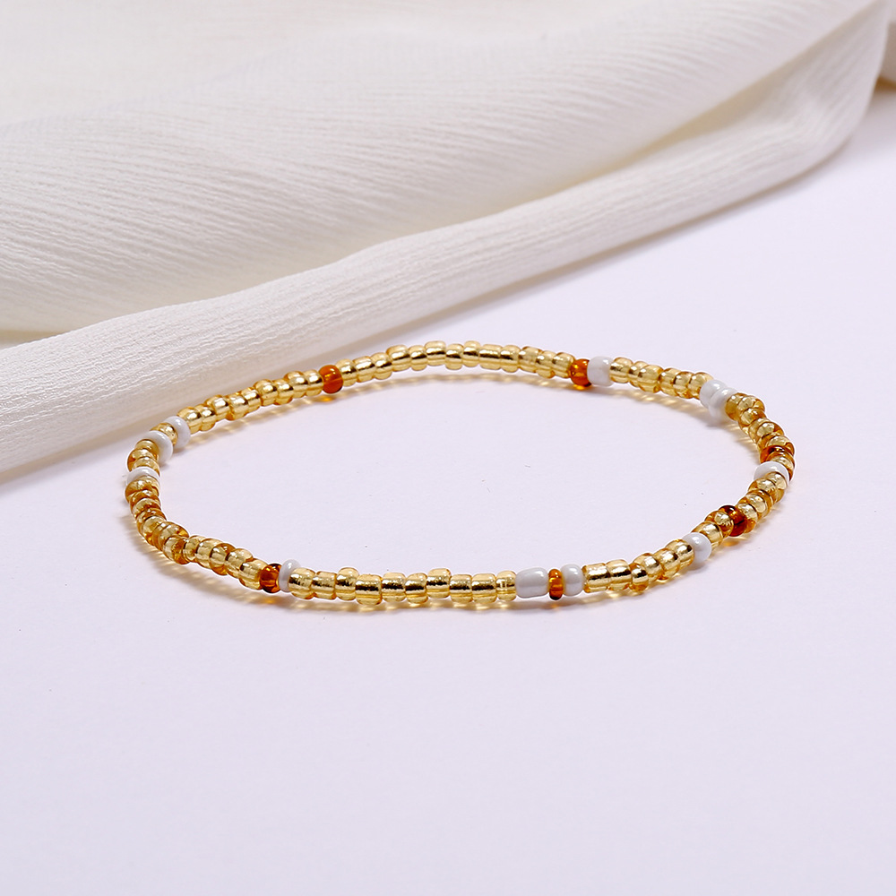 Bohemian style Multi Color Elastic Waist Belly Beads Body Chains Bracelet Anklets For Body Beach Summer Boho Jewelry
