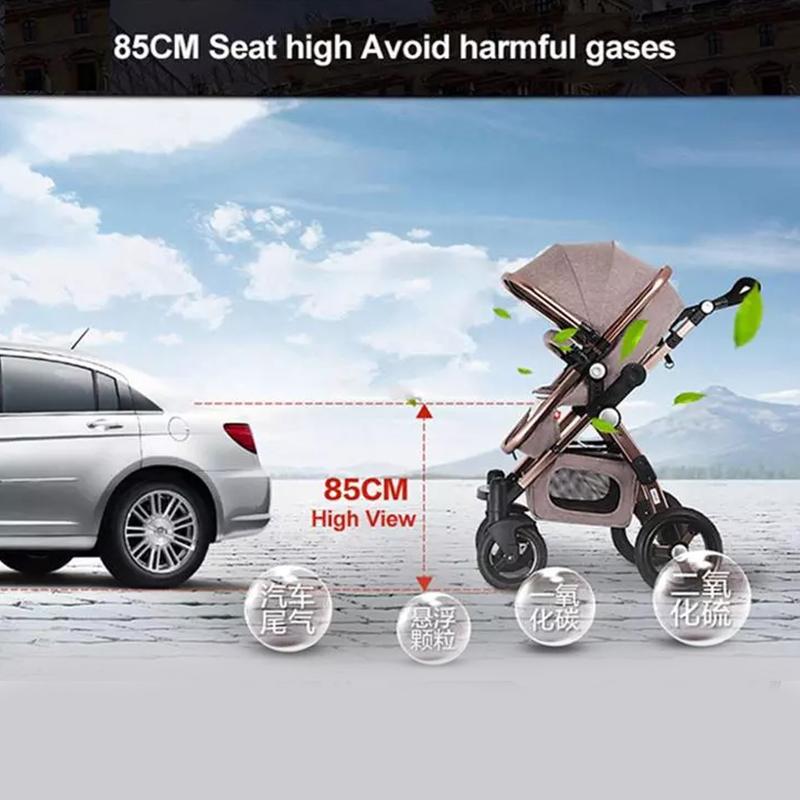 Luxury baby pram 3 in 1 european foldable pram baby pram stroller 3 in 1 leather 4 in 1 stroller lightweight travel system