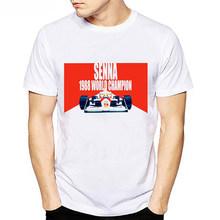 Все Ayrton Senna Sennacars мужские футболки вентиляторы мужские крутые футболки облегающие белые фитнес повседневные топы футболки Homme Camisa(Китай)