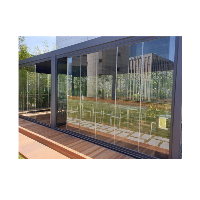 Frameless accordion terrace sliding aluminum doors glass curtain folding doors interior partition wall aluminium glass door