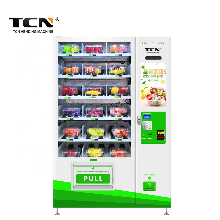 TCN Transportband glas water gezond voedsel fruit salade ei groente Combo Lift Automaat