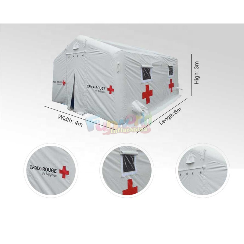 Air tight tents camping outdoor inflatable military tent emergency shelter tent