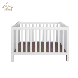 New baby's solid wooden sleep crib bed cot white prices