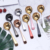 New product colorful handle round titanium coffee cupping spoon stainless steel korean spoon