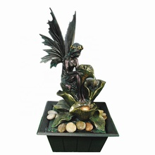 Polyresin <span class=keywords><strong>indoor</strong></span> <span class=keywords><strong>water</strong></span> fontein angel fairy beeldje standbeeld gift craft