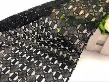 Высококачественная швейцарская Геометрическая кружевная ткань, ручная работа, сделай сам, платье, ткань, нигерийская ажурная кружевная тка...(Китай)