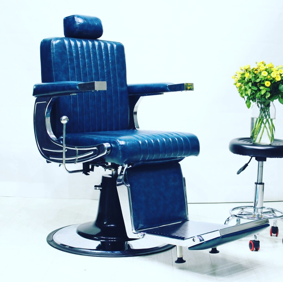 Red blue Leather antique barber chair clasical/barber shop chair hair salon equipment/china barber chair hairdressing equipment