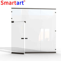 Free Standing Room Partition glass room divider