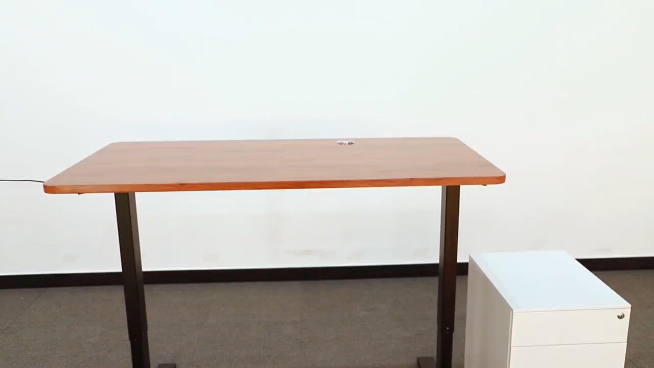 Vansdesk Oficina 2 piernas 3 Fase computadora Escritorio de PIE BLANCO escritorio mesa de altura ajustable pie Escritorio