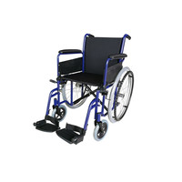 Aluminum Manual fLlip Back Armrest Folding Stainless steel Wheelchair With Footrest WH905