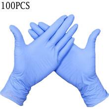 100 шт 4 цвета одноразовые перчатки латексные для мытья посуды/кухни/Медицинские/рабочие/резиновые/садовые перчатки универсальные для левой ...(Китай)