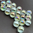 Customize Polished solid Clear Reflective Glass Beads