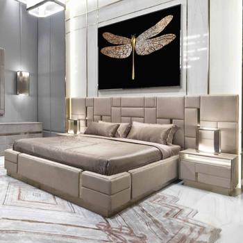 Moderne Luxus Italien Antike Gold Metall Bein Massivholz Rahmen Kuh Leder Konig Grosse Bett Buy Bett Holz Bett Metall Bett Product On Alibaba Com