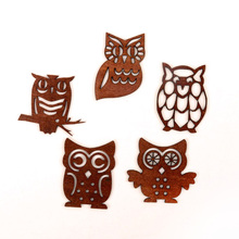 News Fashion Creative DIY Products Wooden Owl Scrapbooking Embellishment Craft