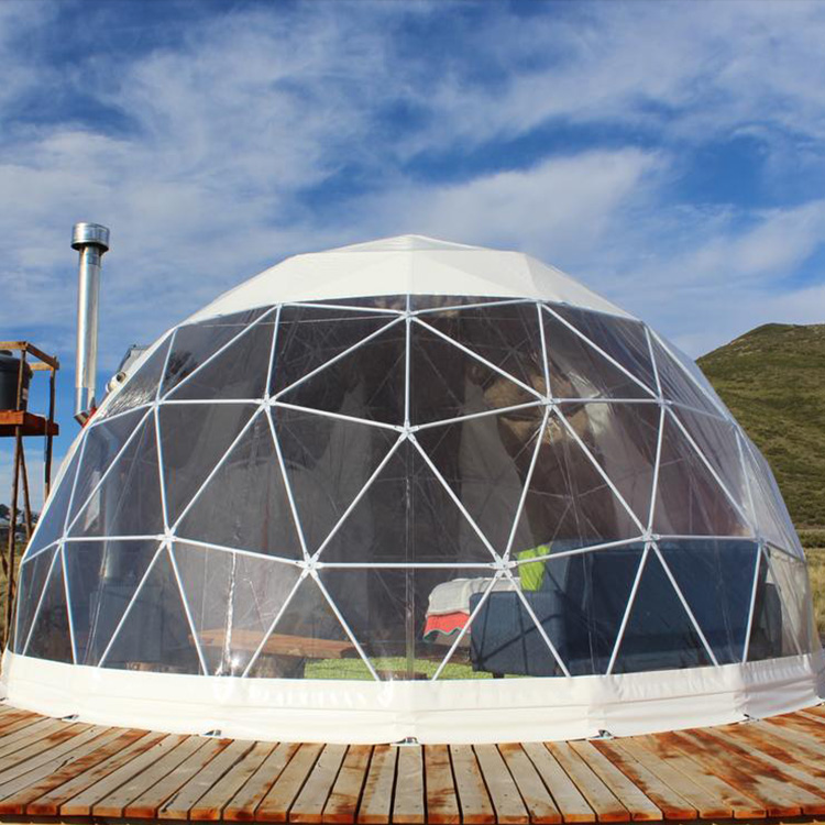 Best Selling Outdoor Glamping Dome Tent, Geodesic Dome 6m Diameter