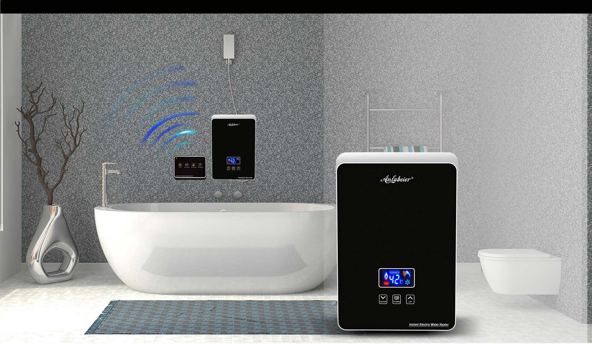 Remote control electric water heater