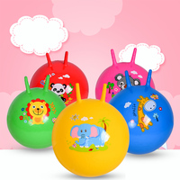 Wholesale and custom pvc kids inflatable toy jumping ball with handle and hopper ball