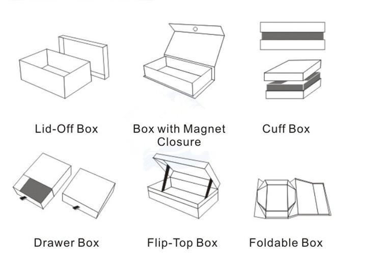 การพิมพ์ที่กำหนดเองปิดแม่เหล็กแมตต์เคลือบพับกระดาษรองเท้า/เสื้อผ้า/เสื้อยืดของขวัญกล่องบรรจุภัณฑ์ที่มีโลโก้ฟอยล์สีทอง