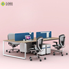 Modern office furniture particle board desktop computer 4 person office desk for 4 seater workstation