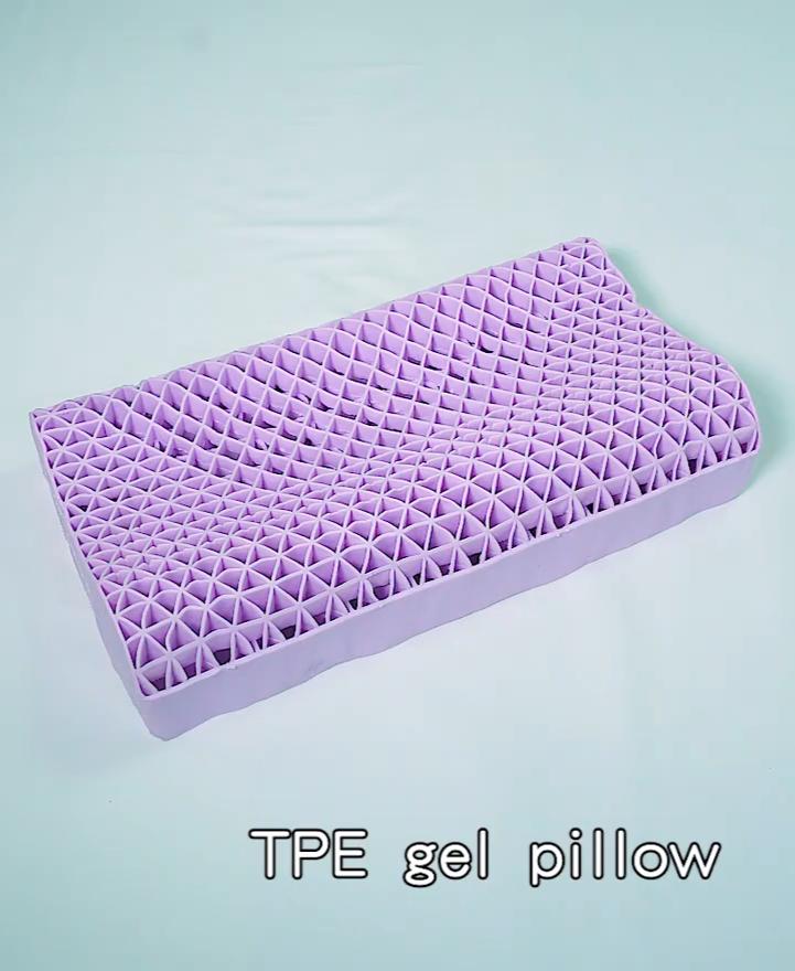 고품질 맞춤형 OEM 실리콘 베개 TPE 젤 통기성 목 냉각 침대 베개