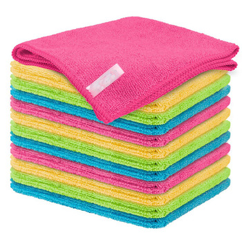 Highly Absorbent Soft Lint Free Drying Glasses Cleaning Cloth Microfiber Kitchen Dish Towels