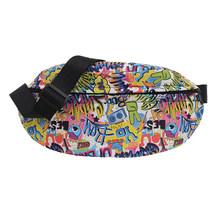 Классический женский мобильный телефон с текстурой граффити, мужской креативный дизайн, шикарная Повседневная поясная сумка, дорожный поя...(Китай)