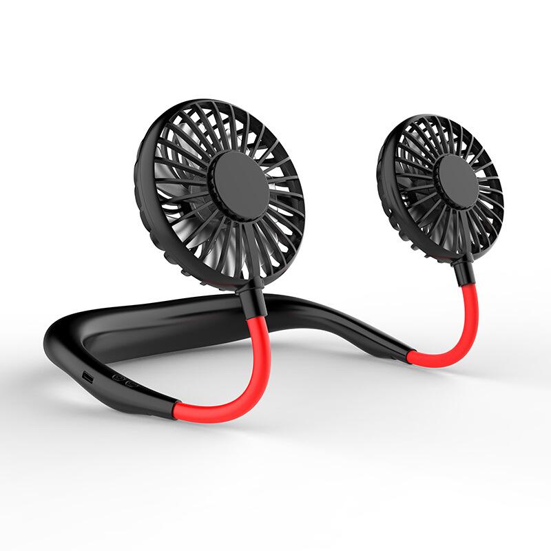 2020 Hot Verkoop Zomer Luchtkoeling Lithium Batterij Usb Hals Fan Draagbare Oplaadbare Elektron Hand Folding Fan