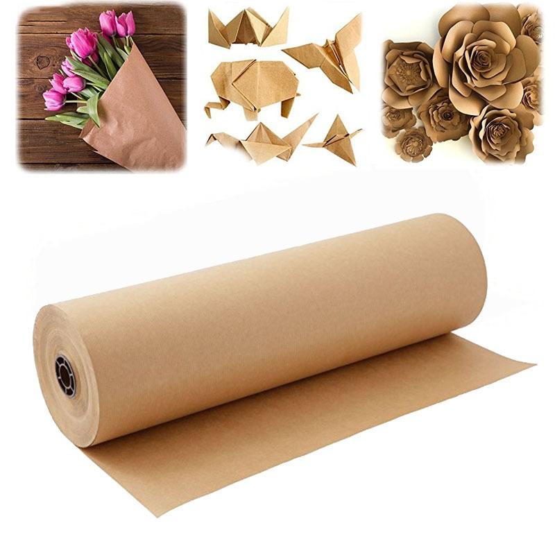 Упаковочная папиросная бумага подарочная оберточная бумага рулон крафт-бумаги коричневый