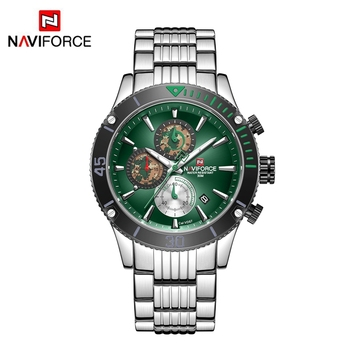 NAVIFORCE NF9173 Japan Original Quartz Watch Gold Time Stainless Steel Luxury Chronograph Unique Wrist Watches