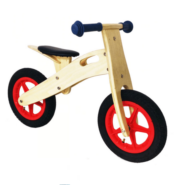 wooden toys birch wood no pedal toddlers push balance bike wooden bike
