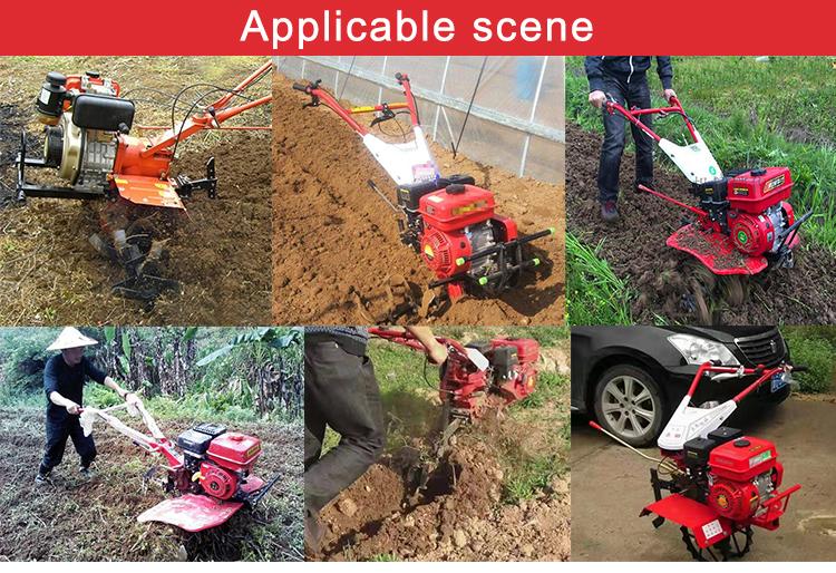 Japão poder 7hp leme arrozal aração do solo máquina de perfilhos
