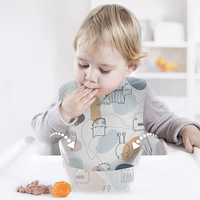 KUB soft hygienic wash-free baby bib with food catcher waterproof cute portable travel paper disposable baby bibs