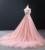 RSM66961 Jancember high quality pink long train lace sexy evening dresses
