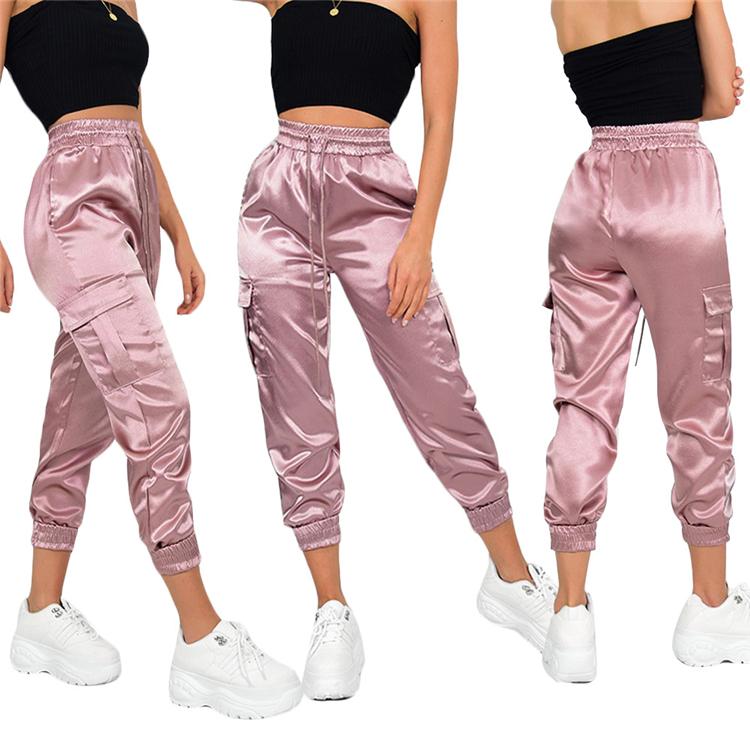 F91178 Pantalones De Colores Lisos Para Mujer Pantalon Informal Holgado Con Pechera 2019 Buy Pantalones De Color Solido De Moda Pantalones De Lapiz Sueltos Casuales Pantalones De Mujer Product On Alibaba Com