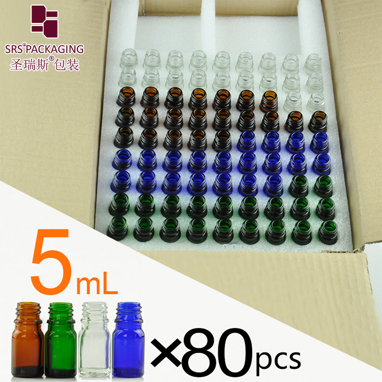 10ml clear empty factory manufacturing wholesale hair oil glass bottle