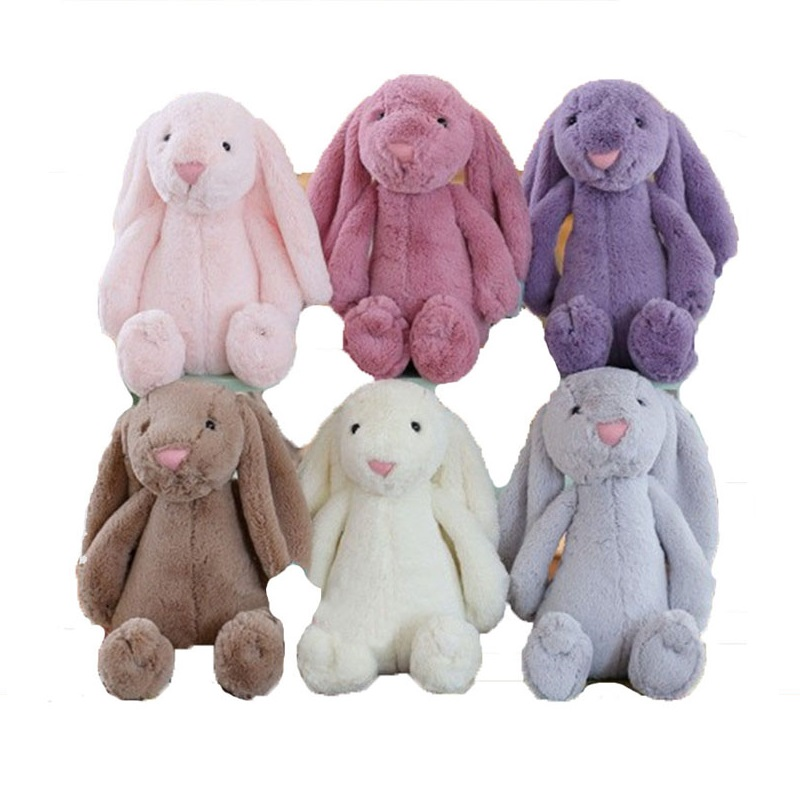 Soft Plush Animal Stuffed Cute Bunny Doll Children White Gray Purple Realistic Plush Toy <strong>Rabbit</strong>