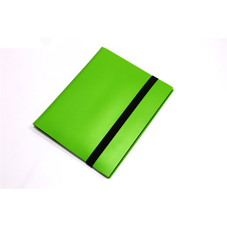 Colorful PP Matte Card Folder Binders With 9 Pockets