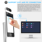Touch Camera 8 Inch WIFI Touch Screen Access Control AI Human Body Temperature Kiosk Detection Face Recognition Thermometer Scanner Camera